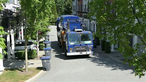 truck vancouver 2015 vancouver bc june 2015 a modern garbage truck comes