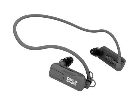 with headphones pyle waterproof neckband mp3 player and headphones pswp4bk black mp3