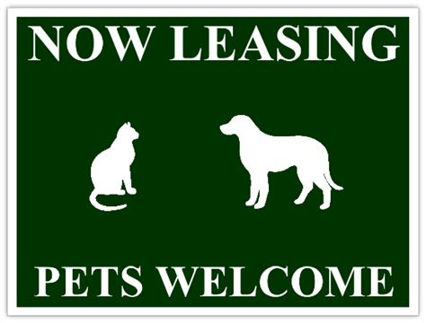 apartment pets welcome sign now leasing