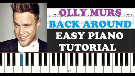 piano tutorial up olly murs olly murs back around easy piano tutorial youtube