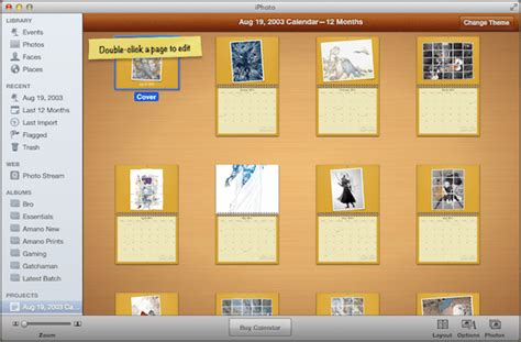 iphoto kalender layout anpassen how to create web galleries and calendar using iphoto for mac
