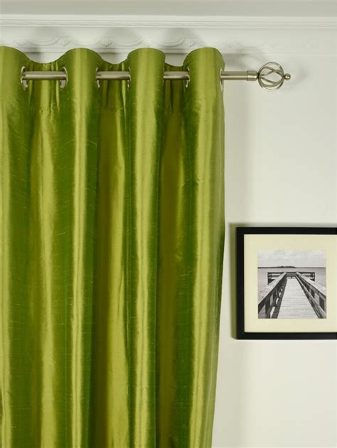 green silk drapes oasis solid green dupioni silk custom made curtains