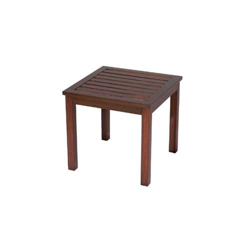 Square Table L Shop Allen Roth Gatewood 20 In W X 20 In L Square Aluminum End Table At Lowes