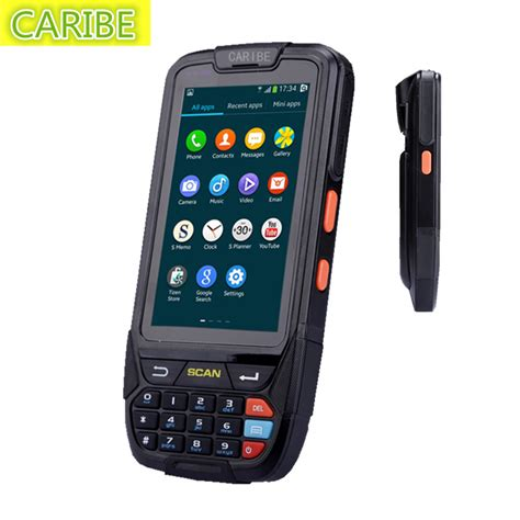 barcode scanner android android handheld pda pl 40l with laser barcode scanner 2d scanner for handheld android pda in
