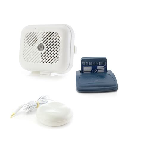 care call smoke alarm system with pager and vibrating