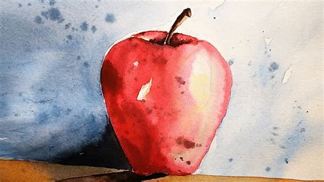 watercolor tutorial apple watercolor painting tutorial paint an apple easy tips