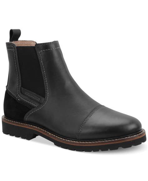 bass s boots g h bass co bass erving cap toe chelsea boots in black