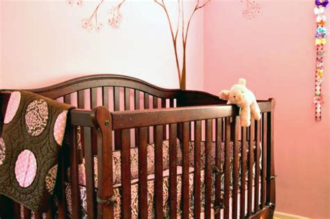 pink and brown nursery in the nursery with georgette westerman project nursery