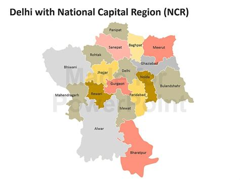 One Year Mba Delhi Ncr by Delhi Map Editable Powerpoint Maps