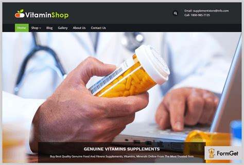 Vitamin Wp 5 nutrition store themes free and paid formget