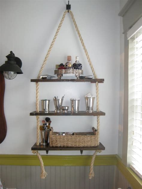 walk  bathroom shelving diy