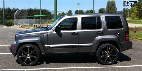 lowered jeep liberty car jeep liberty on niche sport series verona m150