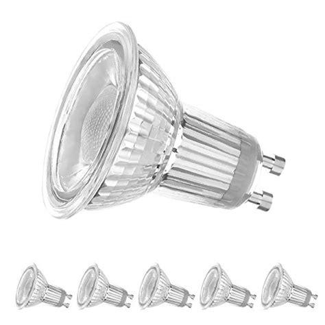 dimmable led track light bulbs ledera dimmable gu10 led track bulbs 5000k daylight white