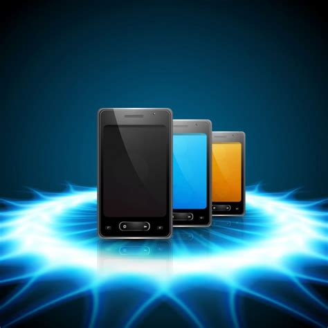 themes background mobile phone mobile phones on shiny background vector free download