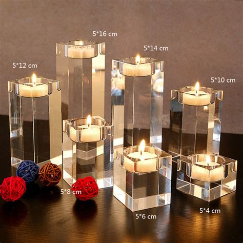 Dining Table Candles Aliexpress Buy 3pcs Set Dining Table Solid Candlestick Transparent Candle