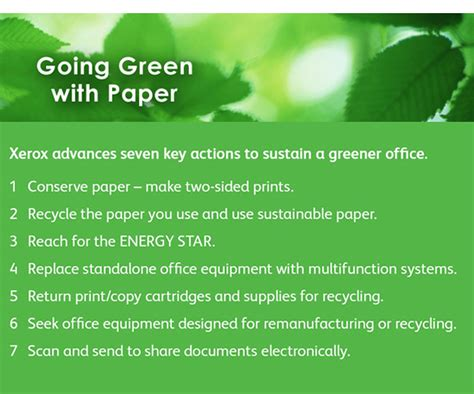 Going Green Essay by Xerox Wants You To Go Green Greenetworks