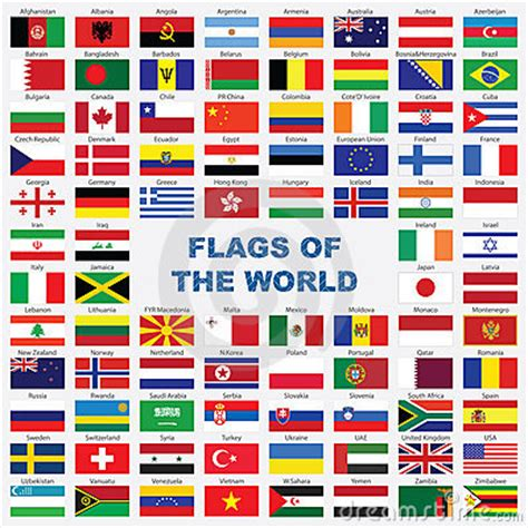 flags of the world gallery sorted flags of the world with detailed emblems royalty