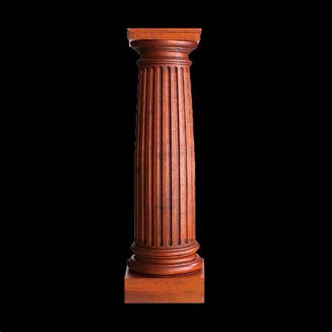 Solid Wood Columns 6 Quot X 2 Fluted Bar Columns Fireplace Columns Wood