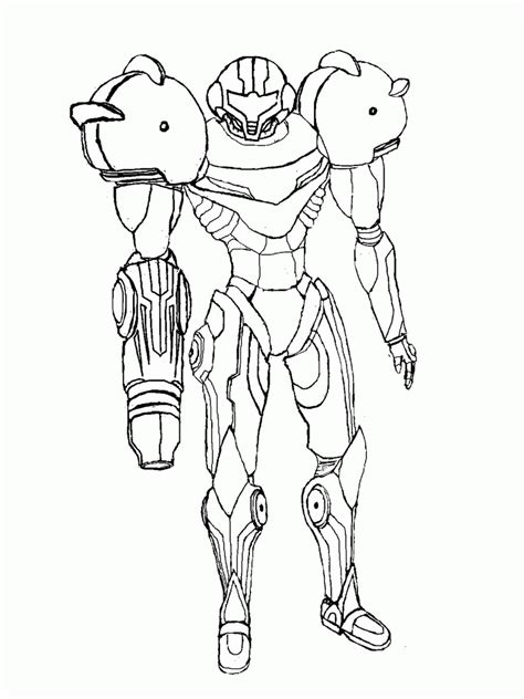 Samus Coloring Pages samus smash bros coloring pages coloring home