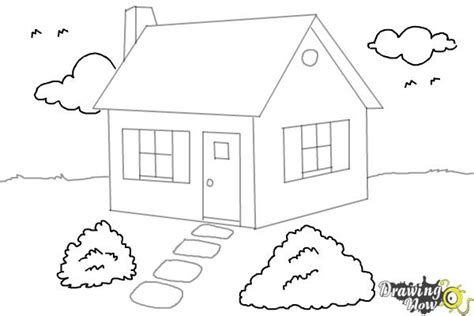 drawing a house how to draw a house step by step drawingnow
