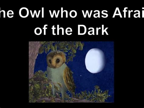 the owl who was ppt the owl who w as afraid of the dark powerpoint presentation id 987123
