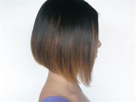 how to cut weightline hair how to cut an a line bob hairstyle on your self at home