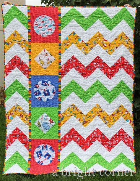 Dr Seuss Quilt Pattern Free by Dr Seuss Quilt A Bright Corner Quilting