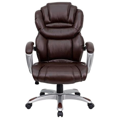 Brown Desk Chair by Flash Furniture High Back Office Chair In Brown 461283