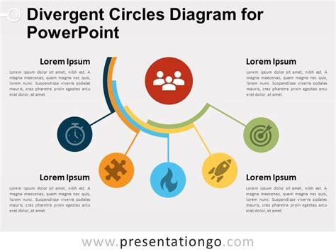 divergent circles diagram  powerpoint  google
