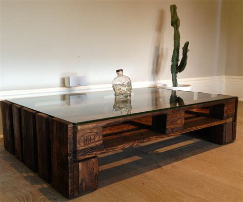 large glass coffee tables large pallet wood and glass topped coffee table