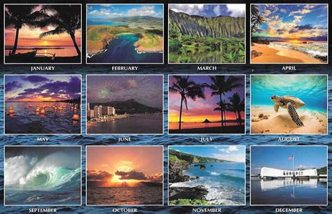 Calendar 2018 Hawaii 2018 Hawaiian Calendar Waikiki And Oahu Hawaii 12