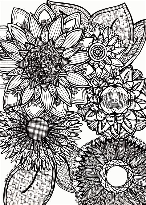 abstract coloring pages momjunction coloring pages for adults abstract flowers coloring home