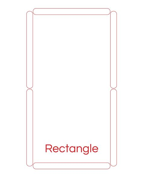 shape template popsicle stick rectangle template 171 preschool and homeschool