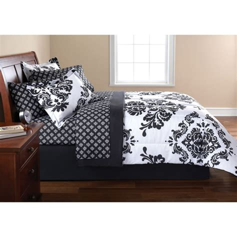 mainstay bedding mainstays classic noir bedding set walmart com