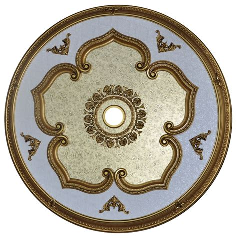 antique gold ceiling medallion round collection