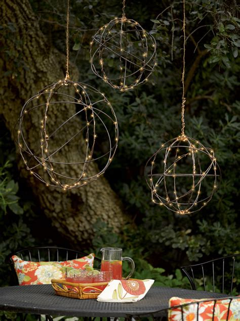 wire sphere battery operated led lights gardeners com