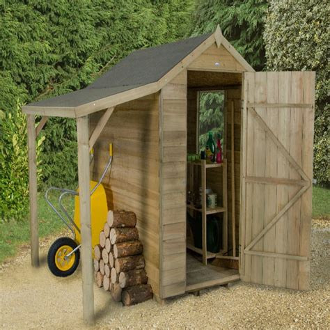 forest overlap apex shed pressure treated  shelter