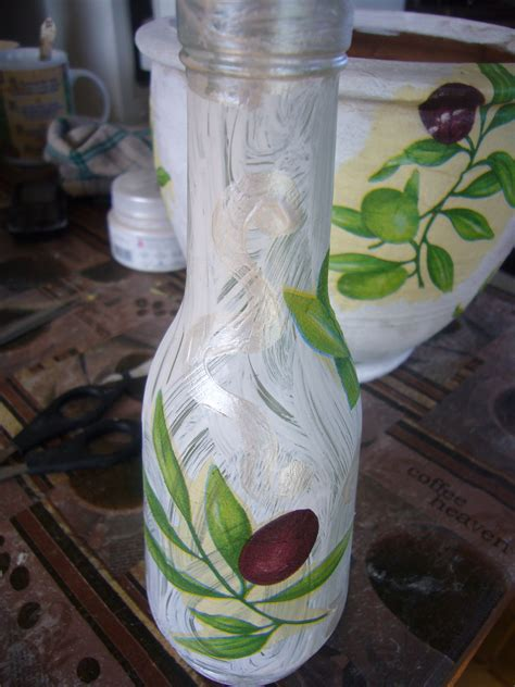 Decoupage Vase Ideas - glass bottle and clay vase decoupage project diy crafts