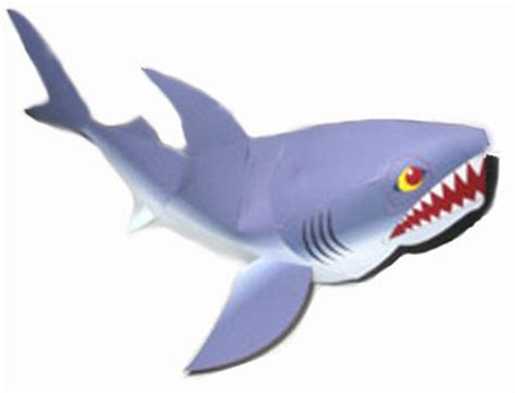 Papercraft Shark - animal shark paper model and pepakura corner