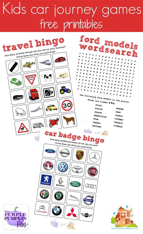 printable games car journey uk road trip travel printables and a ford c max review mum
