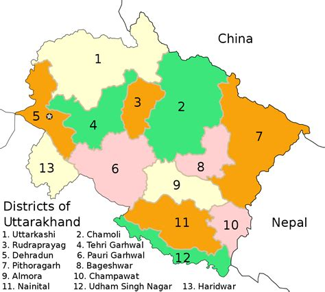 List of districts of Uttarakhand   Wikipedia