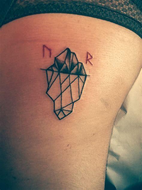 iceberg tattoo iceberg with viking runes finland black and