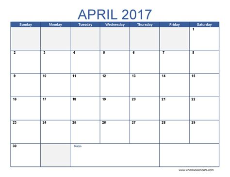 printable calendar months 2017 april calendar templates print blank calendars