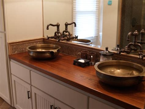 custom bathroom countertops 1000 images about custom wood countertops on