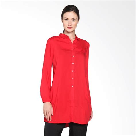Kemeja Casual Cardinal jual cardinal dakx004 11b femme kemeja smart casual original merah harga kualitas