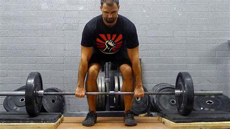 snatch grip rack deadlift 19 squat deadlift variations t nation