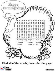free coloring pages of thanksgiving wordsearch