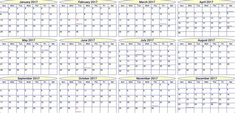 yearly calendar 2017 and 2018 yearly calendar 2017 2018 calendar with holidays