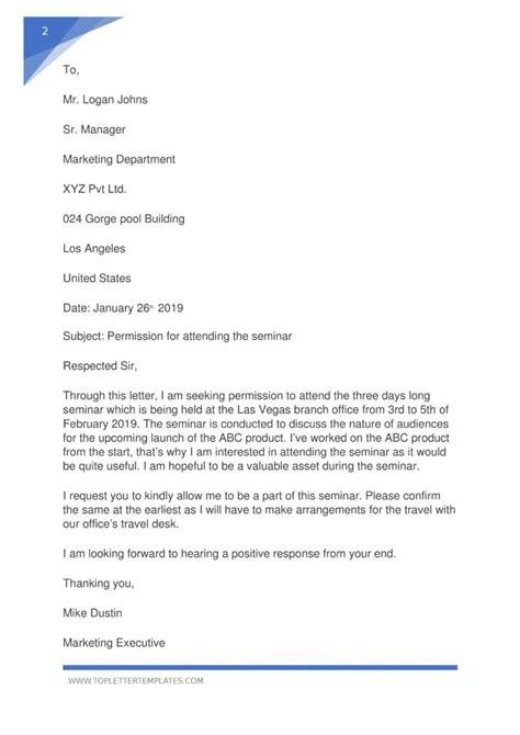 sample letter permission