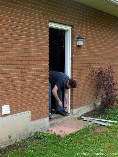 Exterior Door Frame Installation A New Back Door Our Home Notebook